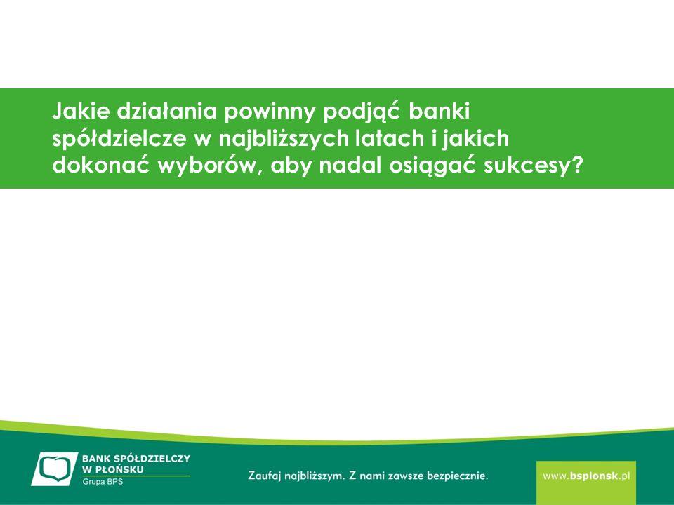 Jakie działania powinny podjąć banki spółdzielcze w najbliższych latach i jakich dokonać wyborów, aby nadal osiągać sukcesy
