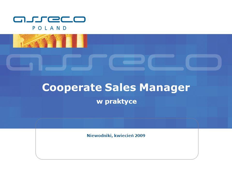 Cooperate Sales Manager w praktyce Niewodniki, kwiecień 2009