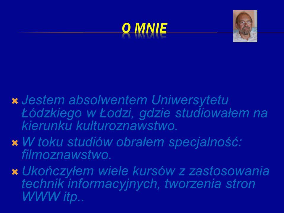 Jestem absolwentem Uniwersytetu Łódzkiego w Łodzi, gdzie studiowałem na kierunku kulturoznawstwo. W toku studiów obrałem specjalność: filmoznawstwo. U