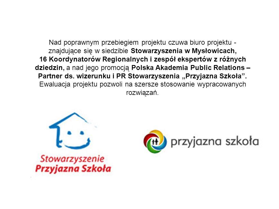 Nad poprawnym przebiegiem projektu czuwa biuro projektu - znajdujące się w siedzibie Stowarzyszenia w Mysłowicach, 16 Koordynatorów Regionalnych i zespół ekspertów z różnych dziedzin, a nad jego promocją Polska Akademia Public Relations – Partner ds.