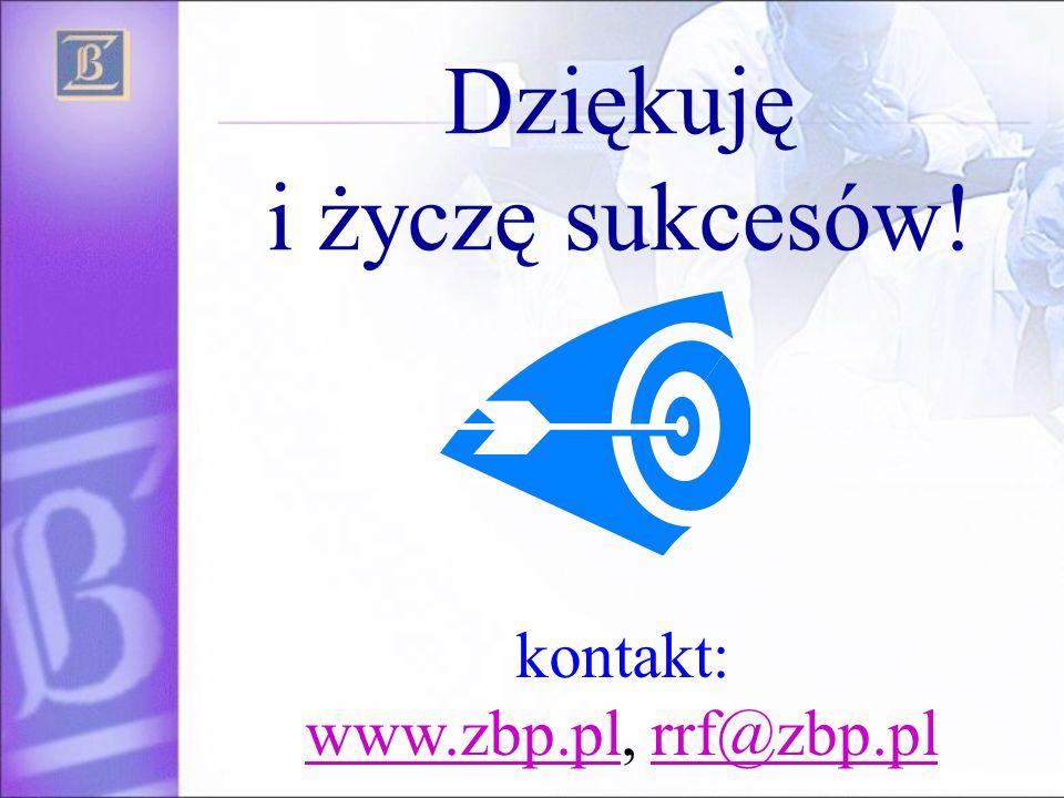 Dziękuję i życzę sukcesów! kontakt: www.zbp.pl, rrf@zbp.pl www.zbp.plrrf@zbp.pl