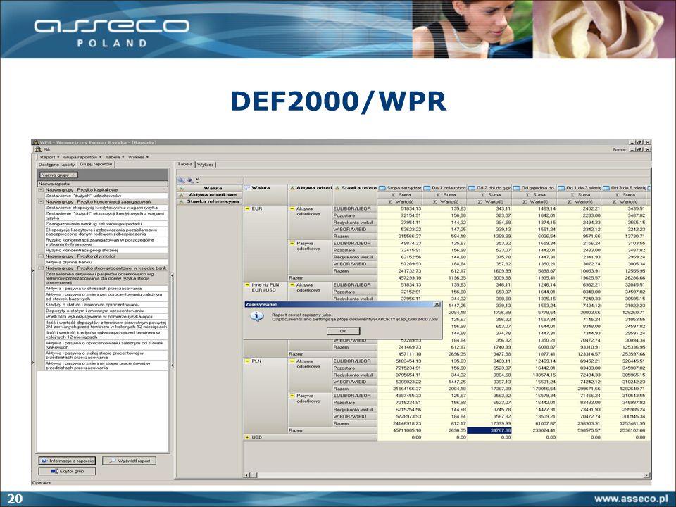 20 DEF2000/WPR