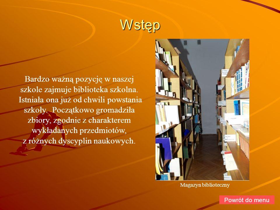 Działalność Z biblioteki korzysta około 57 nauczycieli i pracowników szkoły, 717 uczniów Liceum Ogólnokształcącego, GS i ZSZ.