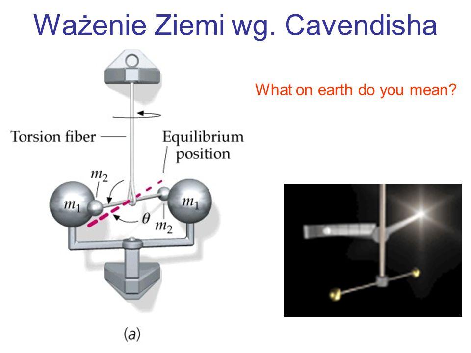 Ważenie Ziemi wg. Cavendisha What on earth do you mean?