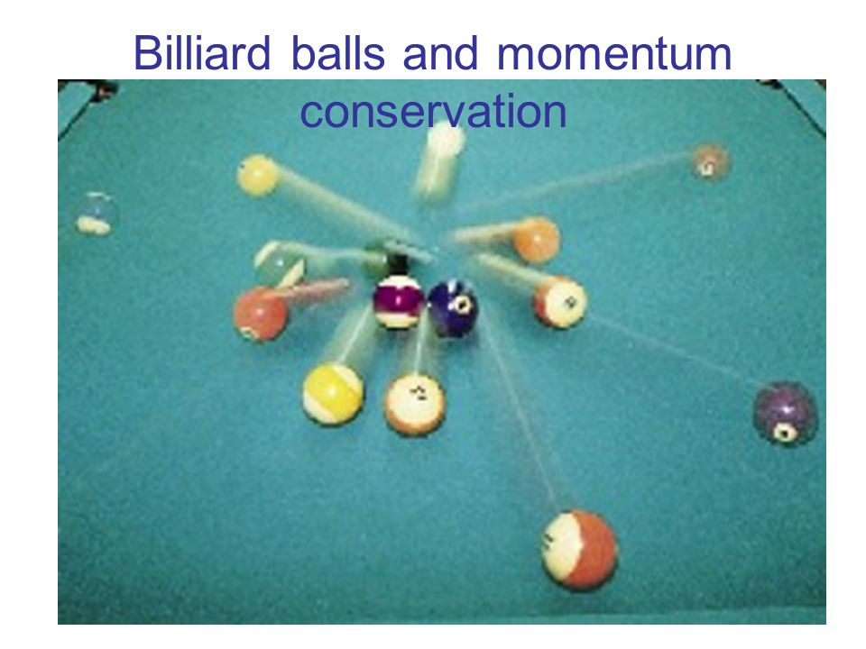 Billiard balls and momentum conservation