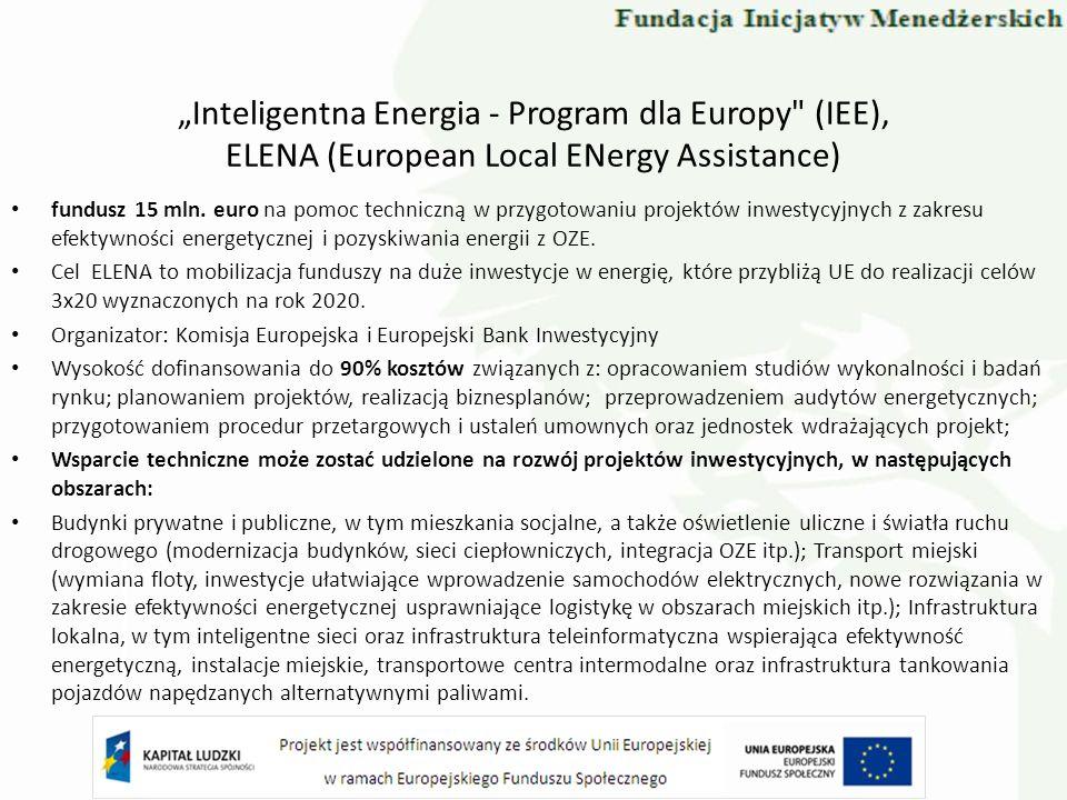 Inteligentna Energia - Program dla Europy