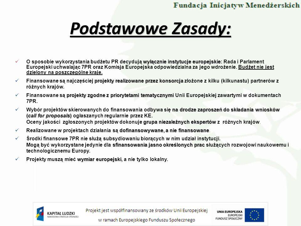 wyłącznie instytucje europejskie O sposobie wykorzystania budżetu PR decydują wyłącznie instytucje europejskie: Rada i Parlament Europejski uchwalając
