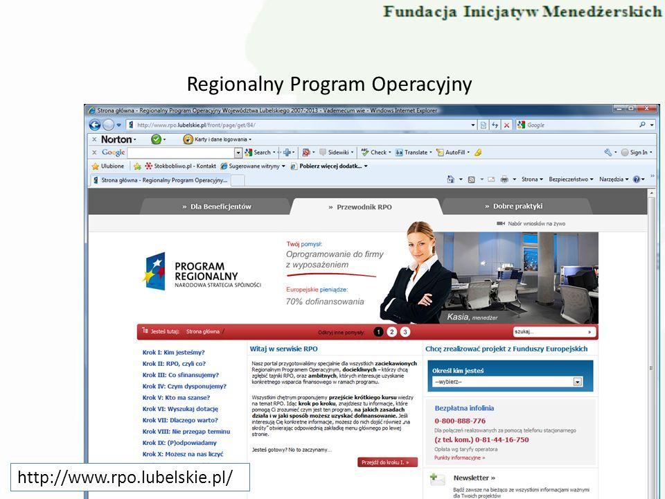 Regionalny Program Operacyjny http://www.rpo.lubelskie.pl/