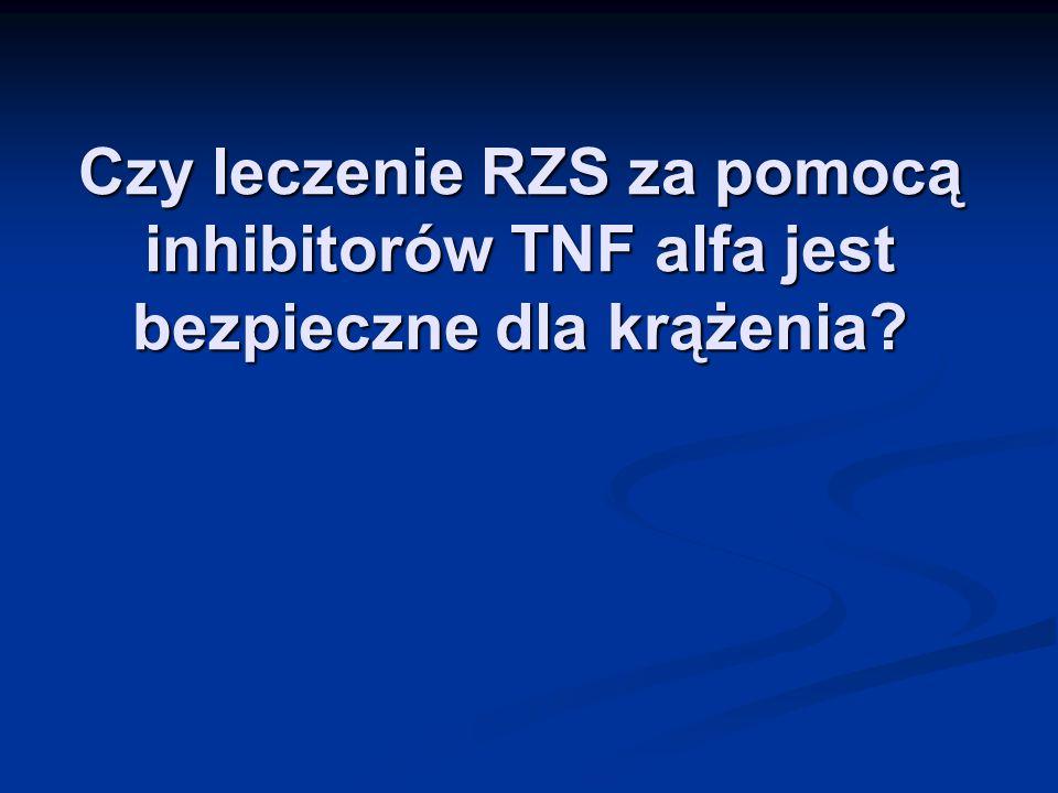 Czy leczenie RZS za pomocą inhibitorów TNF alfa jest bezpieczne dla krążenia?
