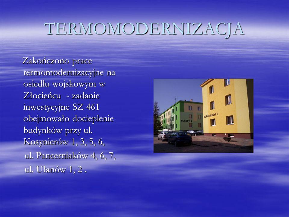 TERMOMODERNIZACJA Zakończono prace termomodernizacyjne na osiedlu wojskowym w Złocieńcu - zadanie inwestycyjne SZ 461 obejmowało docieplenie budynków