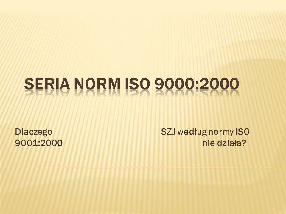 Dlaczego SZJ według normy ISO 9001:2000 nie działa?
