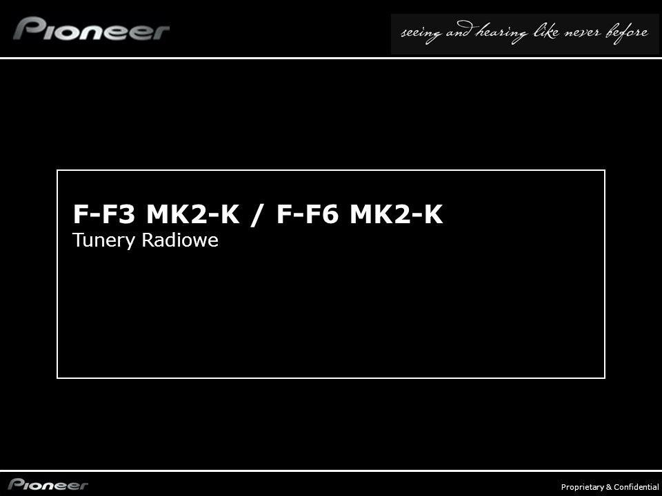 FY0809_Audio Compo - p. 15 Proprietary & Confidential F-F3 MK2-K / F-F6 MK2-K Tunery Radiowe