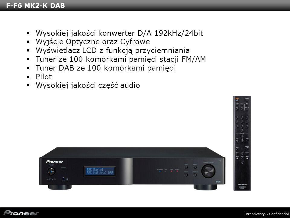 Proprietary & Confidential F-F6 MK2-K DAB Wysokiej jakości konwerter D/A 192kHz/24bit Wyjście Optyczne oraz Cyfrowe Wyświetlacz LCD z funkcją przyciem