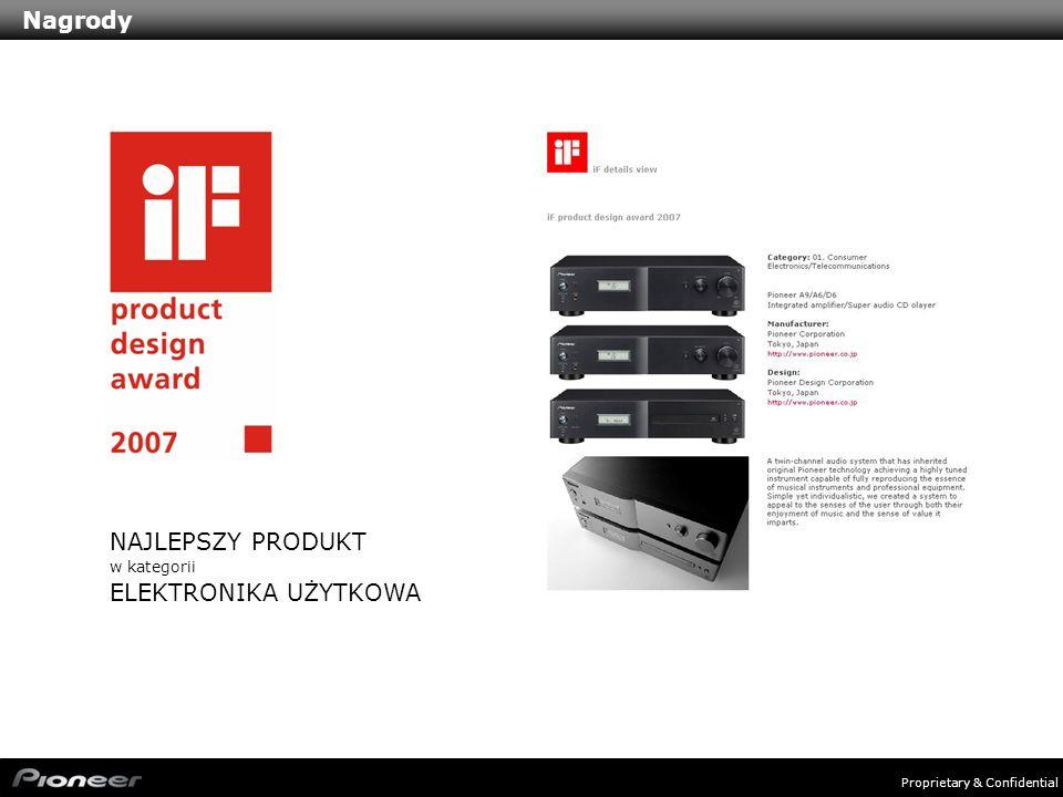 Proprietary & Confidential Nagrody NAJLEPSZY PRODUKT w kategorii ELEKTRONIKA UŻYTKOWA