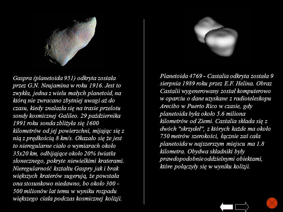 Gaspra (planetoida 951) odkryta została przez G.N. Neujamina w roku 1916. Jest to zwykła, jedna z wielu małych planetoid, na którą nie zwracano zbytni
