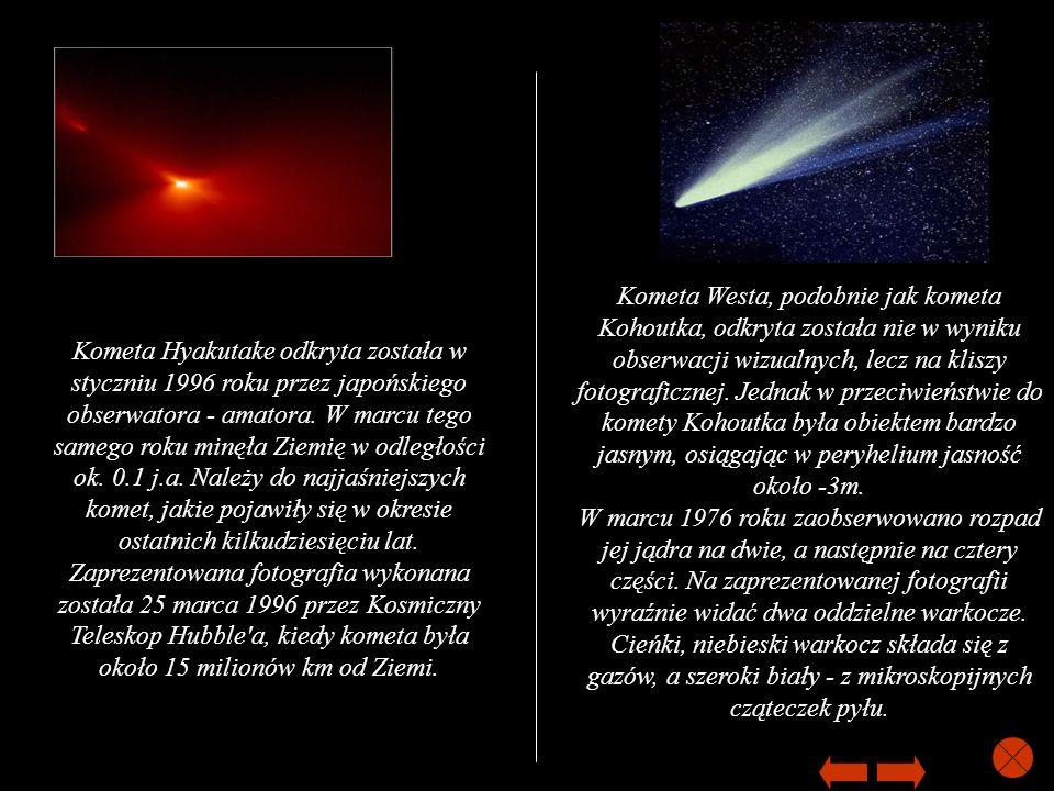 Kometa Westa, podobnie jak kometa Kohoutka, odkryta została nie w wyniku obserwacji wizualnych, lecz na kliszy fotograficznej. Jednak w przeciwieństwi