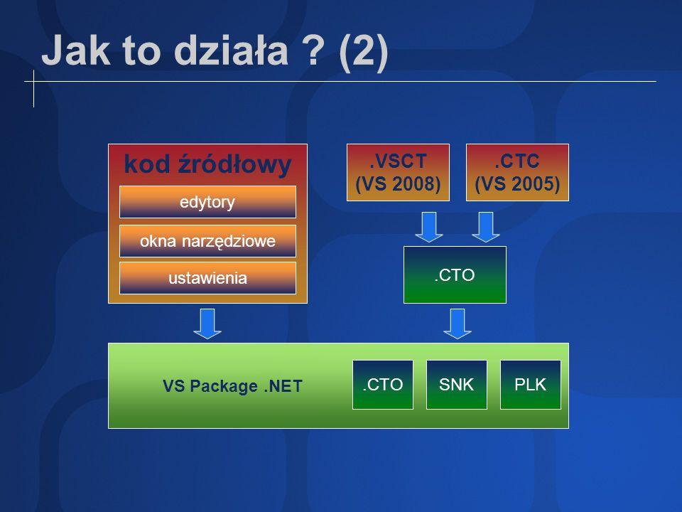 Jak to działa ? (2).VSCT (VS 2008) kod źródłowy.CTC (VS 2005).CTO VS Package.NET PLKSNK.CTO ustawienia okna narzędziowe edytory