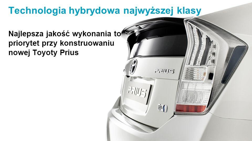 Technologia hybrydowa najwyższej klasy Najlepsza jakość wykonania to priorytet przy konstruowaniu nowej Toyoty Prius