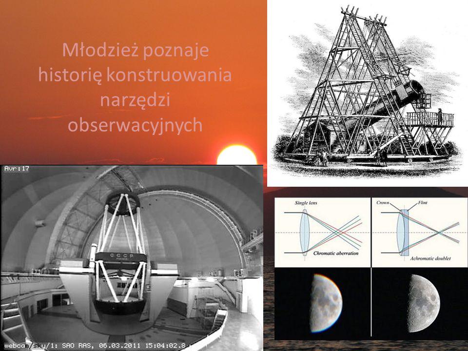 Młodzież poznaje historię konstruowania narzędzi obserwacyjnych