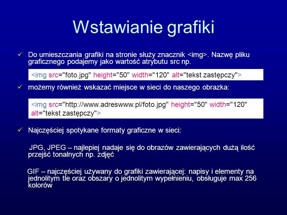Odnośniki Odsyłacze (linki, odnośniki, łącza) są najbardziej charakterystycznymi elementami dokumentu HTML, umożliwiają powiązanie miedzy sobą dokumentów w sieci WWW.