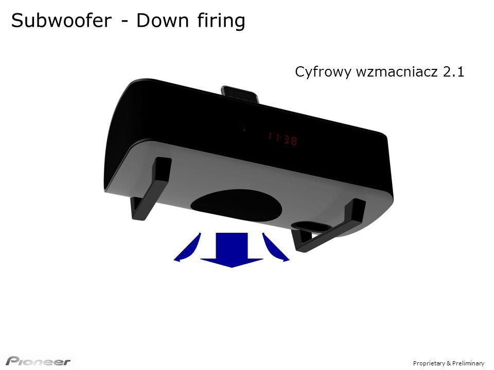 Proprietary & Preliminary Cyfrowy wzmacniacz 2.1 Subwoofer - Down firing