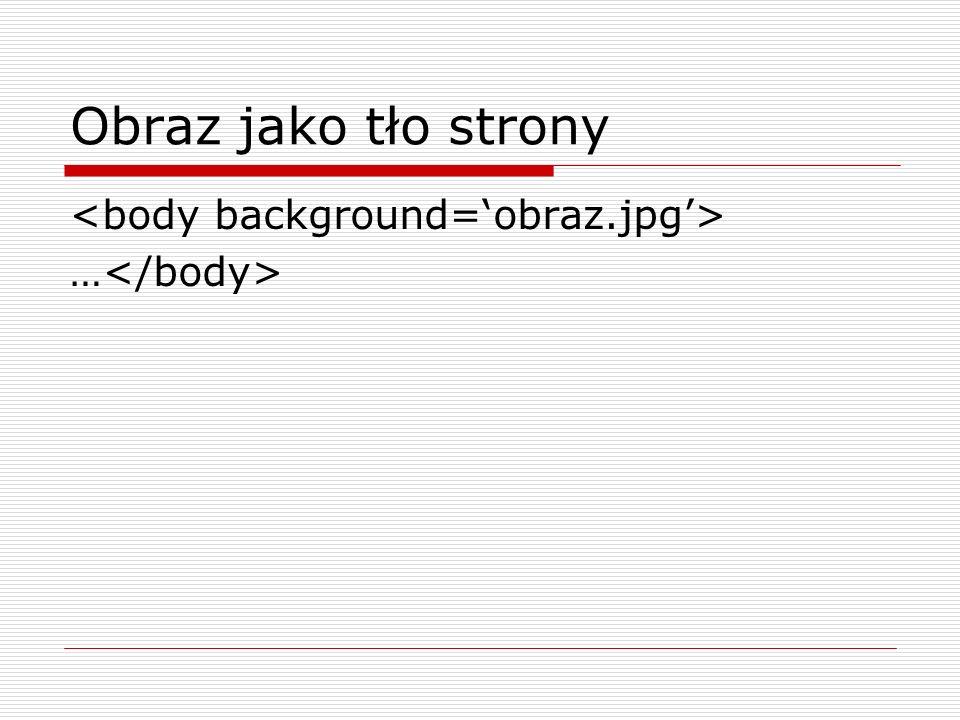 Obraz w tle komórki tabeli … Tekst …..