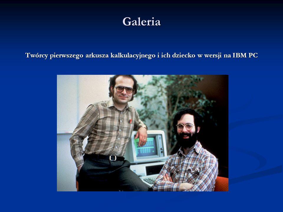 Ewolucja Menu główne Menu główne Menu główne Legenda głosi, że to VisiCalc skłonił IBM do wejścia na rynek komputerów osobistych, oraz że firma czekał