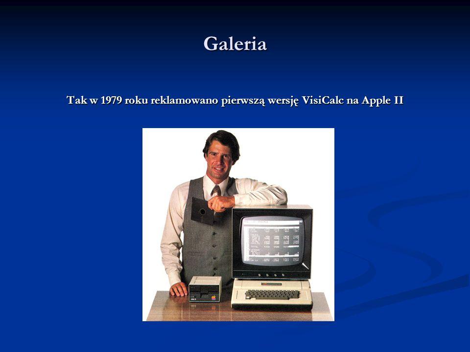 Galeria Jedna z pierwszych wersji VisiCalc (komputer Atari 800)