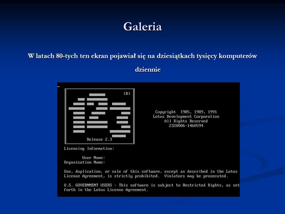 Galeria Tak w 1979 roku reklamowano pierwszą wersję VisiCalc na Apple II