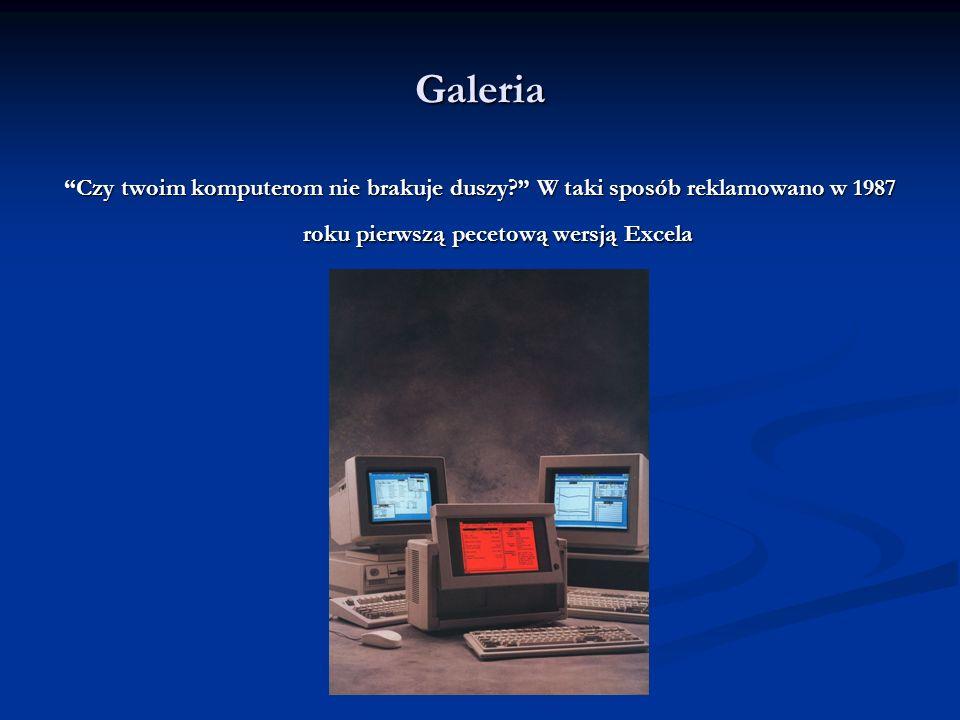 Galeria Najstarsza i najnowsza pecetowa edycja Excela... czy naprawdę zmieniło się tak wiele?