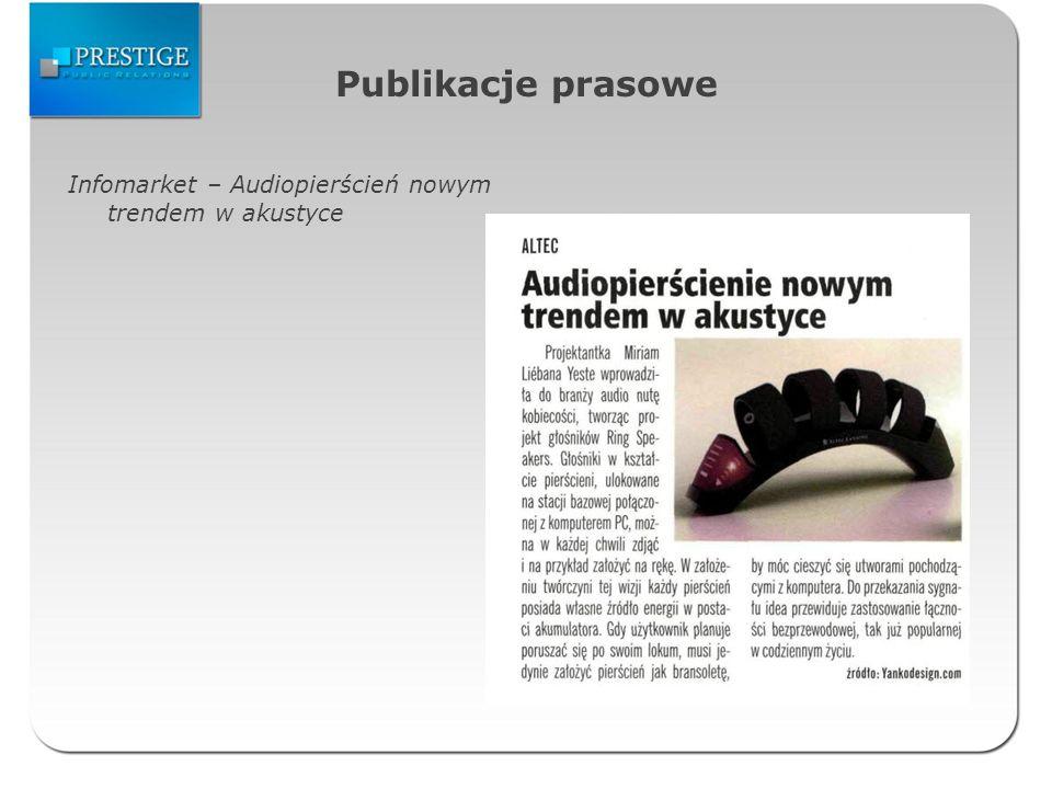 Publikacje prasowe Infomarket – Audiopierścień nowym trendem w akustyce