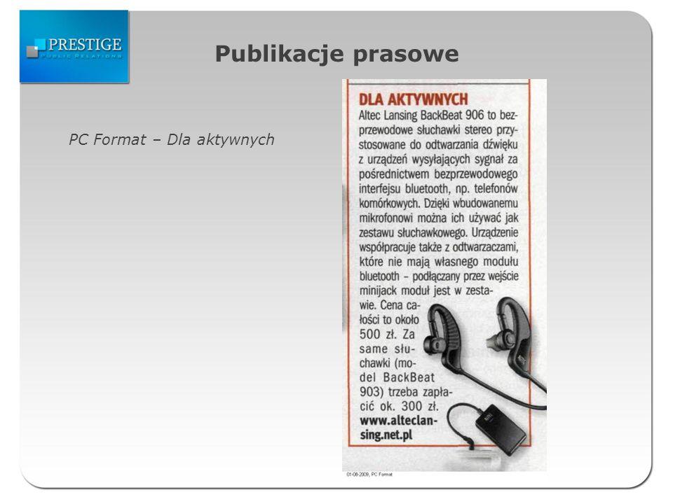 Publikacje prasowe PC Format – Dla aktywnych