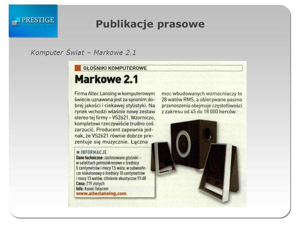 Publikacje prasowe Komputer Świat – Markowe 2.1