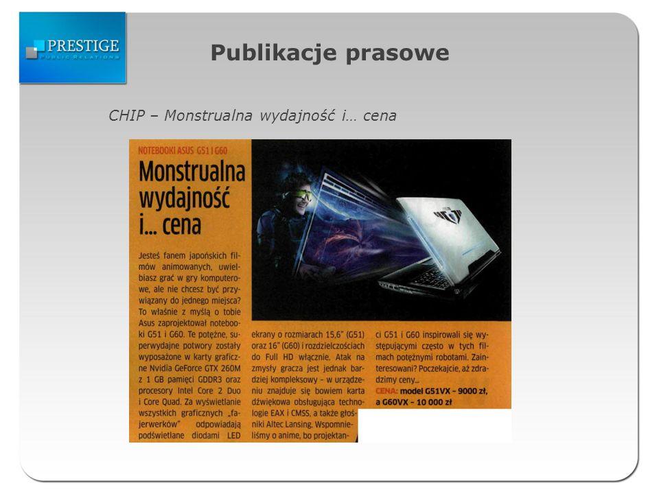 Publikacje prasowe CHIP – Monstrualna wydajność i… cena