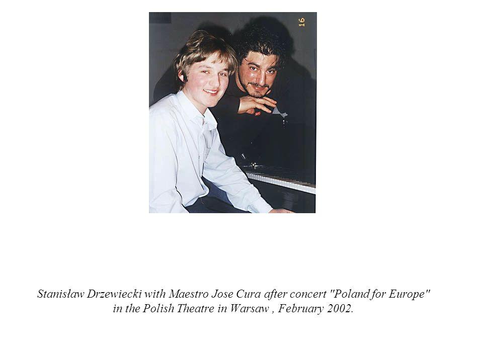 Stanisław Drzewiecki with Maestro Jose Cura after concert