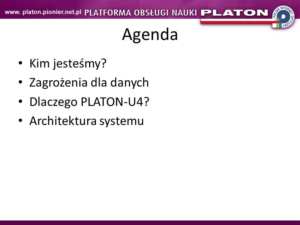 Agenda Kim jesteśmy? Zagrożenia dla danych Dlaczego PLATON-U4? Architektura systemu