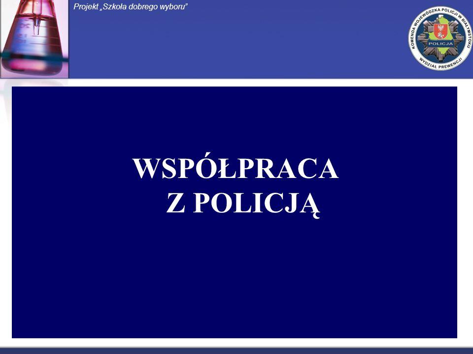 WSPÓŁPRACA Z POLICJĄ Projekt Szkoła dobrego wyboru