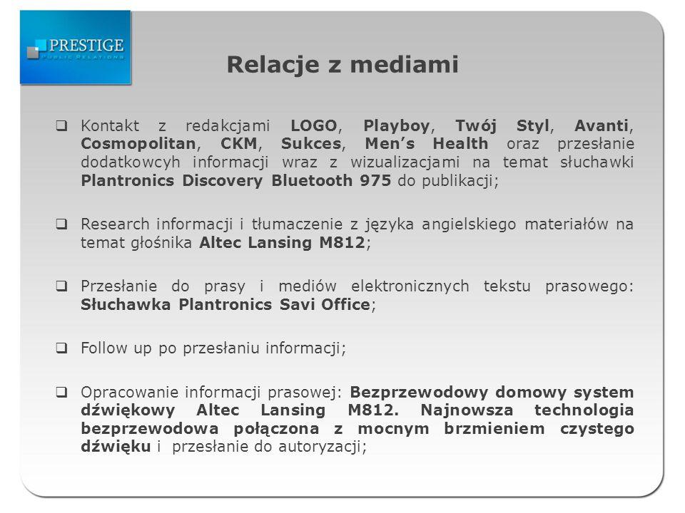 Zestawienie publikacji artykuły prasowe DataMediumTytułAdres www 09.10.2009mobile-internet.plMultimedia w stereo bez kabli http://www.mobile- internet.pl/Akcesoria,6,10970,Multi media-w-stereo-bez-kabli 10.10.2009benchmark.pl Plantronics.Audio995 Multimedia w stereo bez kabli http://www.benchmark.pl/aktualnos ci/Plantronics_.Audio_995_- _Multimedia_w_stereo_bez_kabli- 24082.html 10.10.2009realitynet.plMultimedia w stereo bez kabli http://realitynet.pl/news.php?extend.7268.multimedia_w_stereo_bez_ka bli 11.10.2009gadzetomania.plPlantronics Audio 995 http://gadzetomania.pl/2009/10/11/ gadzetowy-informator-rynkowy-3- 10-%E2%80%93-11-10/ 12.10.2009interaktywnie.com Plantronics.Audio995 Multimedia w stereo bez kabli http://interaktywnie.com/hi- tech/newsy/prportal-pl/plantronics- audio-995-multimedia-w-stereo-bez- kabli-5531 12.10.2009telix.pl Plantronics Audio 995 cyfrowy dźwięk stereo bez kabli http://www.telix.pl/artykul/plantroni cs-audio-995-cyfrowy-dzwiek- stereo-bez-kabli--3,30814.html 12.10.2009otopr.pl Plantronics.Audio995: multimedia w stereo bez kabli http://www.otopr.pl/pr/plantronics-- audio995-multimedia-w-stereo-bez- kabli,art,9983.html 12.10.2009skyit.plMultimedia w stereo bez kabli http://www.skyit.pl/multimedia-w- stereo-bez-kabli/