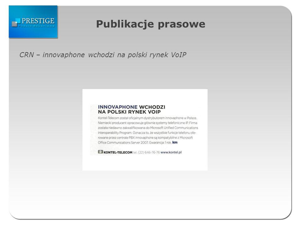 Publikacje prasowe CRN – innovaphone wchodzi na polski rynek VoIP