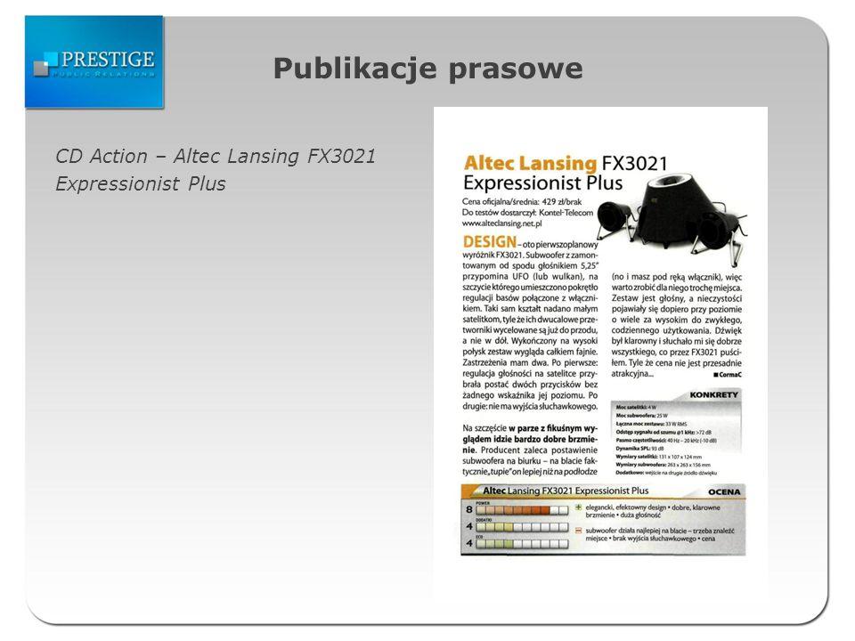 Publikacje prasowe CD Action – Altec Lansing FX3021 Expressionist Plus