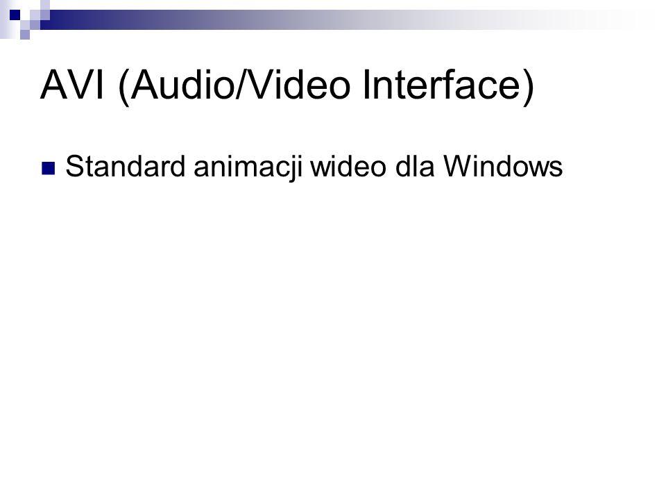 AVI (Audio/Video Interface) Standard animacji wideo dla Windows