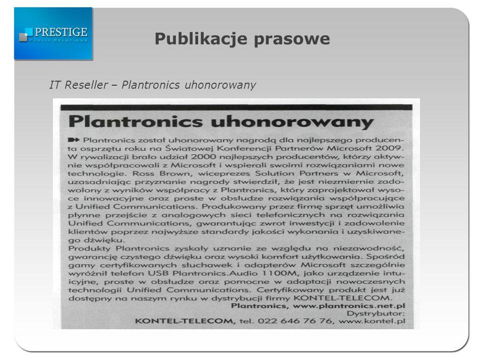 Publikacje prasowe IT Reseller – Plantronics uhonorowany