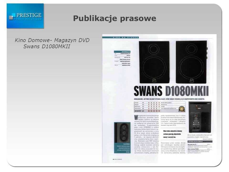 Publikacje prasowe Kino Domowe- Magazyn DVD Swans D1080MKII