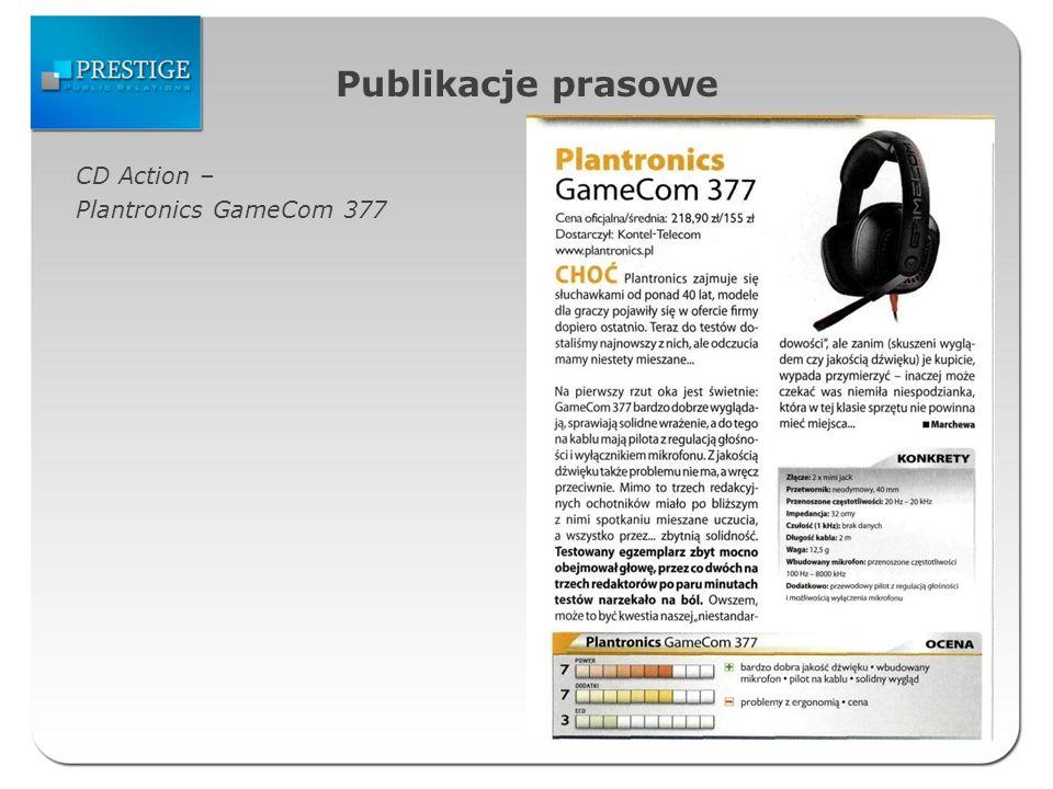 Publikacje prasowe CD Action – Plantronics GameCom 377