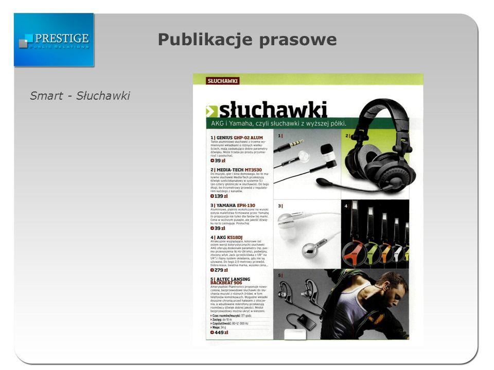 Publikacje prasowe Smart - Słuchawki