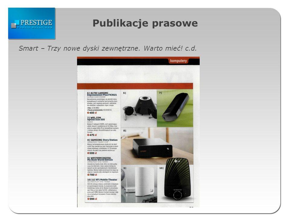 Publikacje prasowe Smart – Trzy nowe dyski zewnętrzne. Warto mieć! c.d.