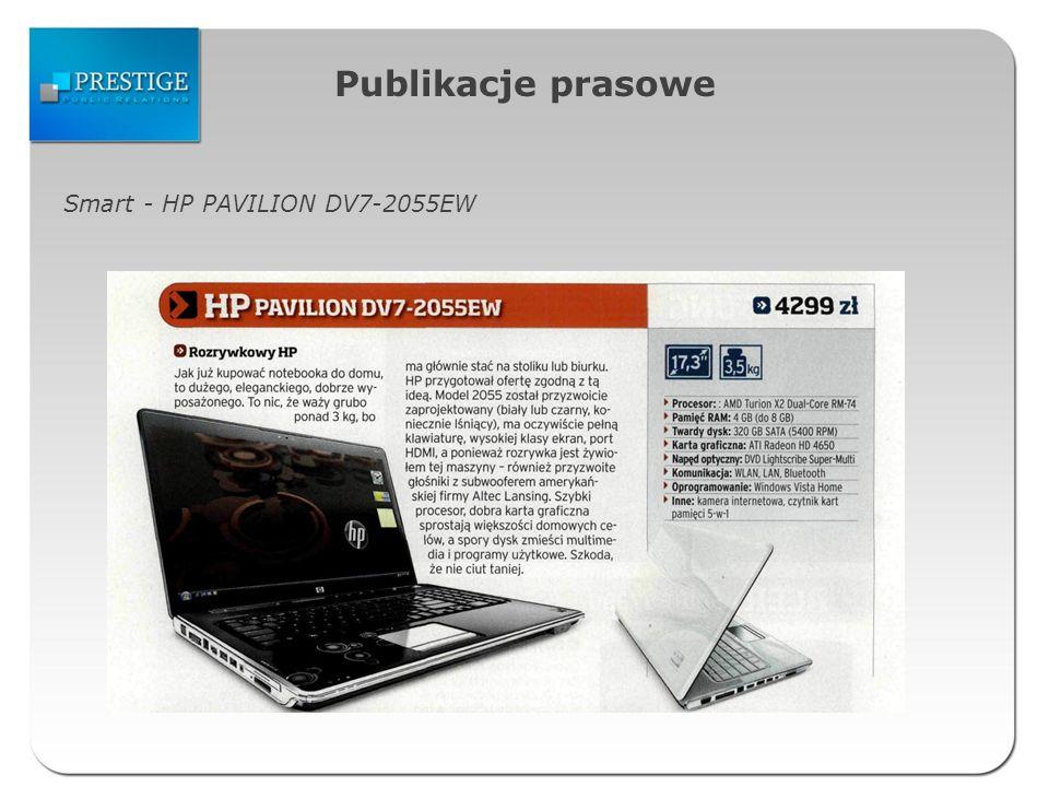 Publikacje prasowe Smart - HP PAVILION DV7-2055EW