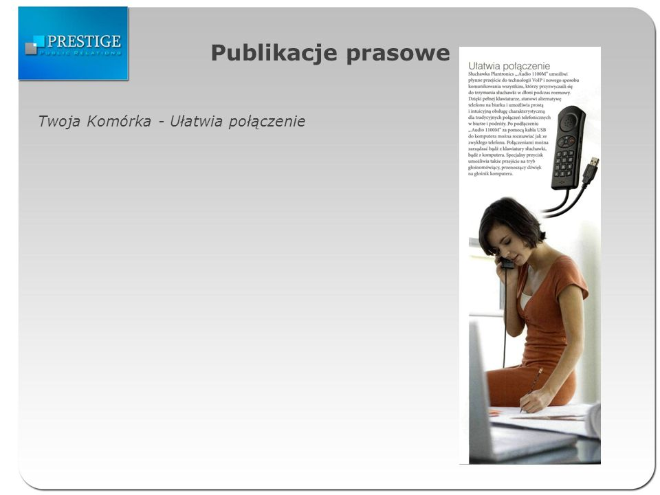 Publikacje prasowe The Wall Street Journal Europe – New Bluetooth headsets vary in comfort, sound quality