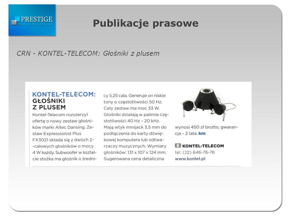 Publikacje prasowe CRN - KONTEL-TELECOM: Głośniki z plusem