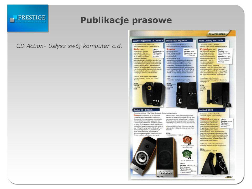 Publikacje prasowe CD Action- Usłysz swój komputer c.d.